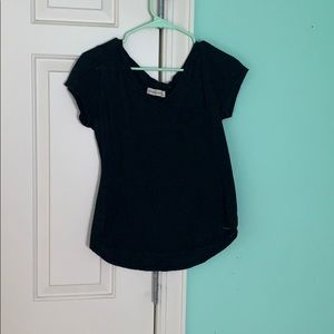 Black v neck t shirt (womens)